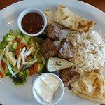 Shish kabob (lamb) lunch special