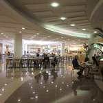 This is the look of the food court, just like any mall food court