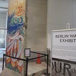 This Berlin Wall exhibit is at the exit to the outside plaza