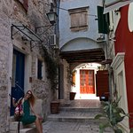 The street on which the room is situated. Peaceful, clean & a stones throw from sea and restaura