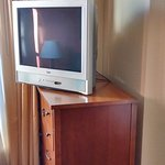 TV in the sitting area of the room