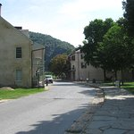 General view of Harpers Ferry from NPS bus stop