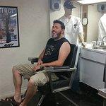 Husband getting a haircut