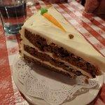 exquisite carrot cake for dessert