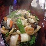 Sizzling seafood Mamak Restaurant Houston, Texas