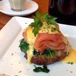 Potato Rosti ~ Spinach - Tasmanian Smoked Salmon - Hollandaise