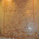 Vintage New Mexico map near main entrance