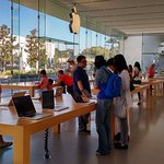 Apple Store, device section, glass walls