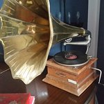 An original gramophone in the lounge
