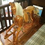 Lovely old rocking horse on the landing