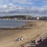 Llandudno beach and promenade.