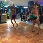 Such a shame to see half naked girls dancing like this in a family restaurant