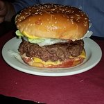 THE famous 12 OZ cheese burger...