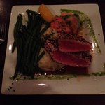 sorry - flash was off - but as you can see the tuna was prepared medium rare and was incredible.