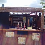 Out bar up and ready to use bottle drinks ice creams and barbie nights