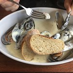 Mussels in a superb fish broth