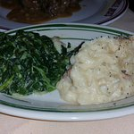 Creamed Spinach and Mashed Potatoes