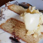 Bannoffee gataux with a lovely blob of Clotted Cream.