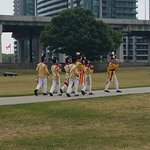 Marching band with the Gardiner Expressway as a backdrop!
