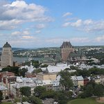 This is the view of Quebec City and the St. Lawrence River.