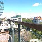 Aussicht vom Balkon des Frühstückraumes