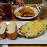 The spinach Dip without crab