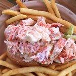 Generous lobster roll!