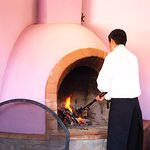 Refuelilng the fireplace
