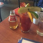 Bloody Mary, strawberry cheesecake French toast