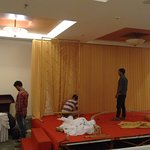 Stage created at the end of the Function room