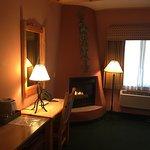 TV Desk Fireplace