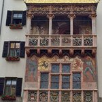 "Hotel is located near to the famous ""Goldenes Dachl"" visible from the room."
