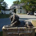 Bronze Lion near entrance