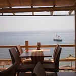 Beach side restaurant, sea view