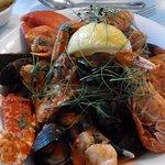 Mixed seafood platter, main dish