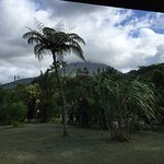 view of Arenal Volcano from back porch