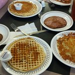 Pecan waffles are the best!