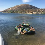 Relaxing at Silverwood Lake