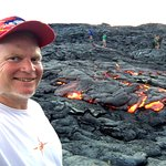 One of your our hosts, Danny Miller at the new lava flow.