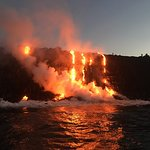 Come See the Lava Flowing into the ocean.