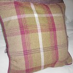 Tartan decorative pillow