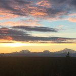 Mt Denali on the right at about 1:00am