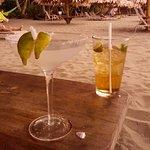 Yummy drinks on the beach!