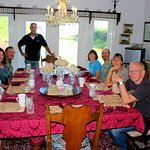 Our group at the breakfast table.