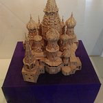 There was incredible detail in this model of St. Basil's Cathedral in Moscow.
