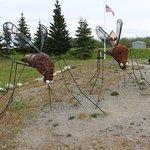 Sculpture of the Alaska state bird