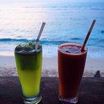 Fresh juice by the ocean