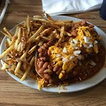 The Navajo taco, the cinnamon roll wrapped Togo and the Chili Size