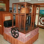 Full-size reproduction of Dr. Gorrie's ice machine.