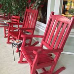 Rocking chairs at Red Rocker Inn